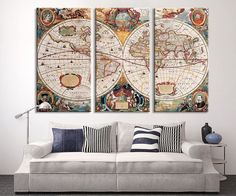 Black and white world map canvas print ready by extralargewallart large wall art vintage antique world map art canvas print large world map wall art antique old world map canvas print gumiabroncs Choice Image