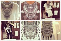 #DIY DYLANLEX STACKED NECKPIECE...most of these are a little much but great #inspiration
