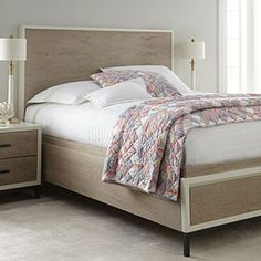 Hidden bed storage: The Shana storage bed incorporates two cedar-lined drawers into the frame.