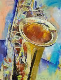 Resultado de imagen para pintura abstracta instrumentos musicales