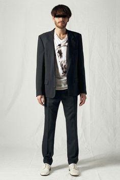 Maison Martin Margiela Line 14 dark grey wool/silk mens trousers size W30 IT44