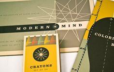 Catalog design and children's coloring book for Modern Mind. Designer: Lauren Wellmer.
