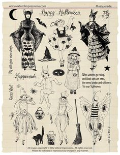 halloween rubber stamps | Masquerade Rubber Stamp Collection Halloween by oxfordimpressions