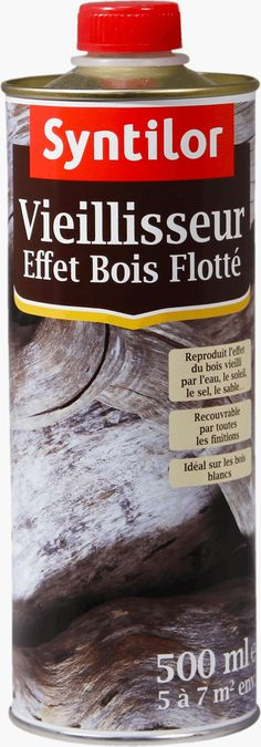 Le Vieillisseur Effet Bois Flotté Syntilor reproduit l'effet du bois qui a été usé par la mer, poli par le sable, blanchi par le sel et vieilli par le temps. Très tendance, il est idéal sur les bois blancs. Donnez un air marin à vos boiseri