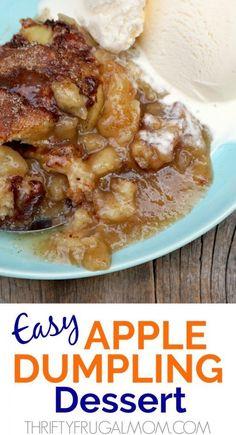 Easy Apple Dumpling Dessert - it's like apple dumplings but easier! Easy Apple Dumpling Dessert - it's like apple dumplings but easier! Apple Dessert Recipes, Fruit Recipes, Apple Recipes, Fun Desserts, Fall Recipes, Sweet Recipes, Delicious Desserts, Cooking Recipes, Yummy Food