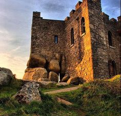 Carn Brea Castle and monument