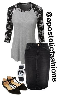 """""""Apostolic Fashions #1233"""" by apostolicfashions on Polyvore featuring LE3NO, River Island, Accessorize and Disney"""