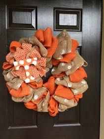 Created Twists: Tennessee Burlap Wreath
