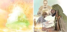 From his heavenly throne, Jehovah inspires men to write the Bible