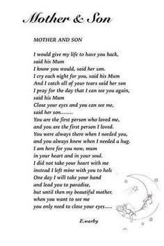 Discover and share Missing My Son Quotes. Explore our collection of motivational and famous quotes by authors you know and love. Son Poems, Grief Poems, Poems About Sons, Loss Of Son, Missing My Son, Poem For My Son, Be My Hero, Grieving Mother, Heaven Quotes
