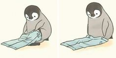 This Artist Draws Comics About A Little Penguin Who Fails At Basic Life Tasks, E. - This Artist Draws Comics About A Little Penguin Who Fails At Basic Life Tasks, E… – This Artis - Penguin Cartoon, Penguin Art, Cute Baby Penguin, Cute Penguins, Cute Disney Wallpaper, Cute Cartoon Wallpapers, Cute Animal Drawings, Cute Drawings, Cute Comics