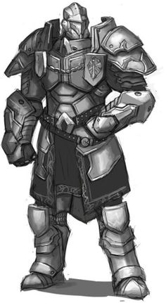 Guardian or Armor concept Fantasy Armor, Fantasy Weapons, Medieval Fantasy, Dark Fantasy, Fantasy Character Design, Character Design Inspiration, Character Concept, Character Art, Dungeons And Dragons Characters