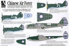 Blue Rider 242- Nationalist Chinese Air Force 1937-45 (5) Polikarpov I-16 No 71 No 94 - Calcomanías 1/72 - 8.99 € con 1001maqu