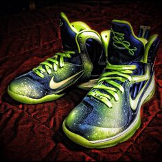 "Nike LeBron 9 ""Sprite Nights"" by Mache Custom Kicks."