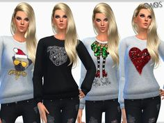 The Sims Resource: Print Sweaters V1 by OranosTR • Sims 4 Downloads