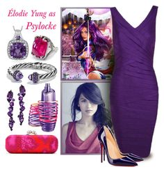 """Marvel: Psylocke"" by harleypool ❤ liked on Polyvore featuring Elodie, Alexander McQueen, Alexon, Justin Bieber, David Yurman, Plukka, Serena Fox, marvel, comics and xmen"