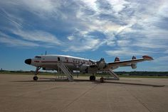 The beautiful Lockheed Constellation Super G has it's home at the National Airliner Museum at the downtown Wheeler airport in Kansas City, Missouri.