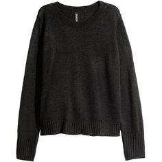 Knit Sweater $12.99 (€11) ❤ liked on Polyvore featuring tops, sweaters, knit top, ribbed top, ribbed long sleeve top, long sleeve sweater and drop shoulder sweater