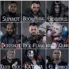 suicide squad members - Google Search