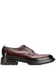 Officine Creative lace up derby shoes - Red Leather And Lace, Brown Leather, Officine Creative, Derby Shoes, Lace Up Shoes, Personal Style, Oxford Shoes, Women Wear, Slip On