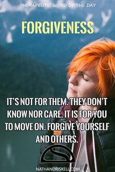 It's not for them. They don't know nor care. it is for you to move on. Forgive yourself and others.