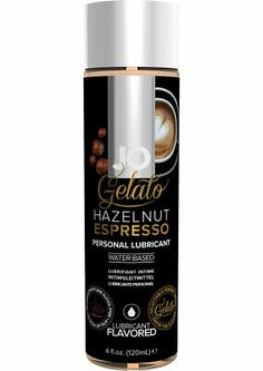 Jo Gelato Lube Hazelnut Espresso - Gelato is a fucky or tacky and has no after taste. Sugar free, safe for vaginal use. A must have for romantic getaways and anniversaries. Gelato Flavors, Chocolate Delight, Romantic Getaways, Espresso, Pure Products, Foreplay, Bottle, Sugar Free, Profile