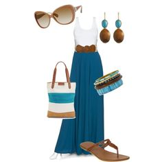 WANT IT ALL!  love the maxi, tank and belt combo.  accessories are super fun too
