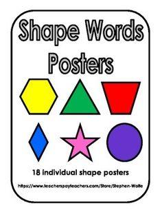 Shape Words Posters - FREEBIE!