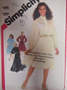 Vintage 1982 Simplicity Misses pullover by VintageTwistsPattern