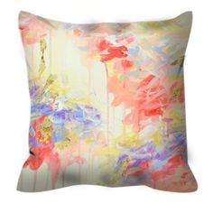 WHISPERED SONG PASTEL Decorative Abstract Art Suede Throw Pillow Cover Decorative Cushion by EbiEmporium, #pastelpink #pink #cream #nurserydecor #girly #feminine #throwpillow #pasteldecor #art #abstractart #peach #pillowcover #decorative #bedding #bedroomdecor #suede #suedepillow #springdecor #summerdecor #designer #ebiemporium