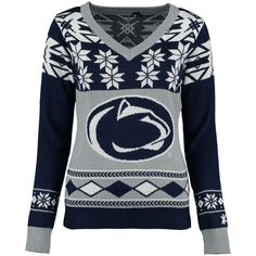 Penn State Nittany Lions Klew Women's Ugly Christmas V-Neck ...