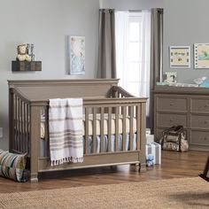 Million Dollar Baby Classic Foothill 4 in 1 Crib Collection   www.cribs.com Love the weathered gray!