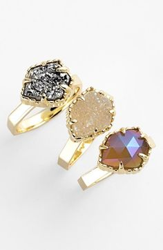 Kendra Scott 'Jody' Stone Stackable Rings (Set of 3) available at #Nordstrom