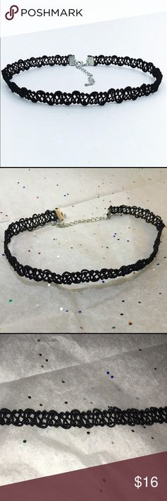 Lacey choker Beautiful lacey choker, a definite showstopper 😉 35cm long plus 5cm for the chain. Jewelry Necklaces