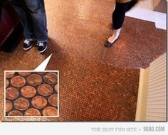 This is amazing! Just ask everyone to donate their pennies ;-) I'd be OCD though and make sure they were all heads up!