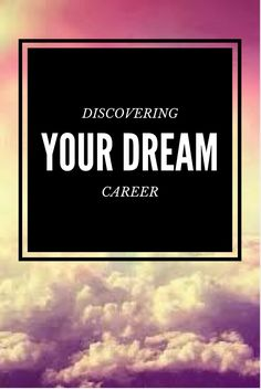 Some of us know what we want to be our entire lives, the rest of us have no clue and have to just wait and figure it all out as we go. If you don't know what you want to be someday or just have no clue at all, here is some advice from me on how I found my dream career and what you can do to discover yours.