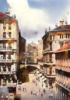 Artist From Poland Nostalgic For 19th Century Warsaw Recreates It In Watercolour  -  Warsaw, the capital of Poland, has had a very difficult history; almost totally…