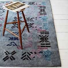 Just Bought This Alyson Fox Stencil Rug In 8x8 On Sale And Loving It! The ·  Stencil RugStencilsWest Elm ...