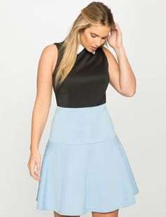 Preppy Fit and Flare Dress from eloquii.com