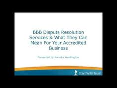 BBB Webinar Series: BBB Dispute Resolution Services & What They Mean For Your Business