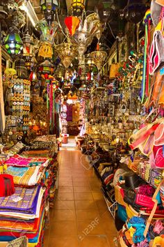 Old Arabic Street Market In Granada, Spain Stock Photo, Picture And Royalty Free Image. Image 14444831.
