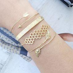 Empire Gold Jonc Bracelet