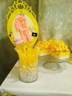 Love this centerpiece at a Slumber Party!  See more party ideas at CatchMyParty.com!