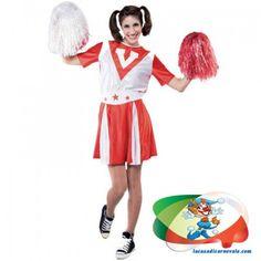 Cheerleader. Taglia unica. Regolabile per la M e la L. Prezzo novita 20€.. incoraggia la tua festa con questa bella cheerleader sport costume