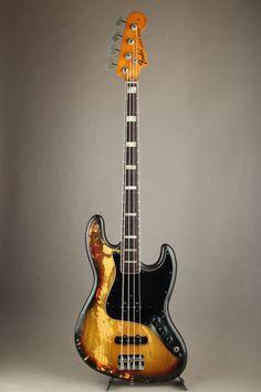 1976 Fender Jazz Bass Vintage 3 Color Sunburst Electric Bass Guitar 4 Strings