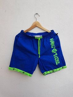 Vintage 90s Hang Loose Hawaii Surfing Surf Boarding Style Neon