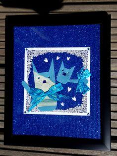 Blue & Skye (framed) - artwork by Rita Dabrowicz Blue Skye, How To Make Paper, Framed Artwork, Cat, Shop, Handmade, Home Decor, Homemade Home Decor, Cat Breeds