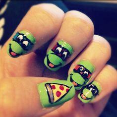 Teenage Mutant Ninja Turtles nailart