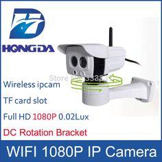 Full HD 1080p IP kamera wifi vonkajšie 3,6mm Objektív DC rotačný držiak Array IR viedol bezdrôtové slot pre SD kartu IPCAM 2megapixely zabezpečenia
