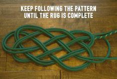 Make a Climbing Rope Rug Climbing Rug Rope Step Rug Rope Step 10 Rope Crafts, Yarn Crafts, Celtic Knot Tutorial, Rock Climbing Rope, Nautical Rugs, Rope Rug, Braided Rugs, Weaving Projects, Handmade Headbands